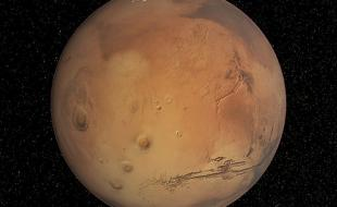 Mars, the Red Planet. (Photo via Wikimedia Commons.)