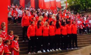 Team Canada for the 2015 Women's FIFA World Cup. (Photo courtesy FIFA.)