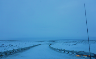 The Inuvik Tuktoyaktuk Highway. (Photo courtesy the Northwest Territories government).