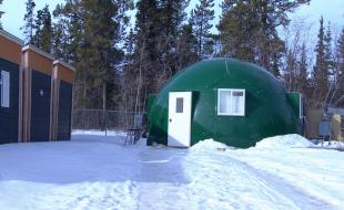 The Agri-Dome. [Photo courtesy of the Agri-Dome website,  https://yukonphotos.wordpress.com/2015/03/28/the-agridome-prototype-for-arctic-agriculture/]